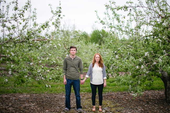 Josh + Lauren | Massachusetts Apple Blossoms
